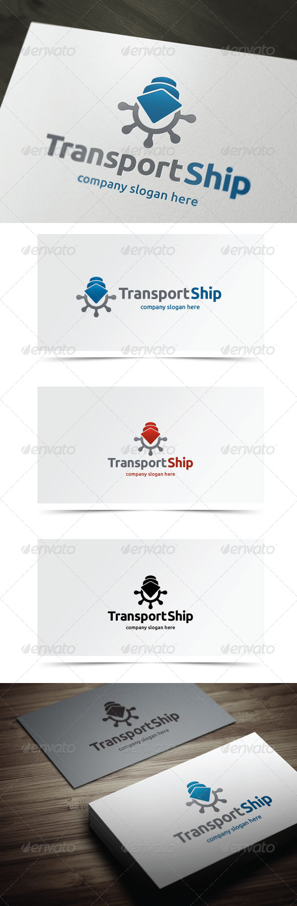 Transport Ship - Objects Logo Templates