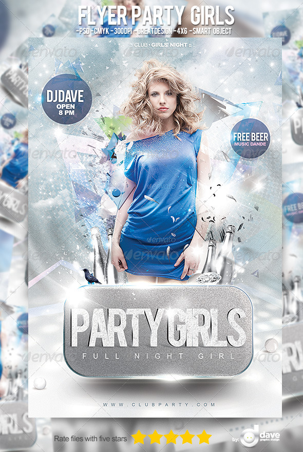 Flyer Party Girls - Clubs & Parties Events