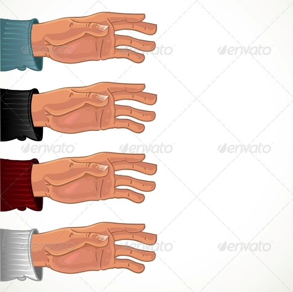 Male Hand in Color Shirt - Abstract Conceptual
