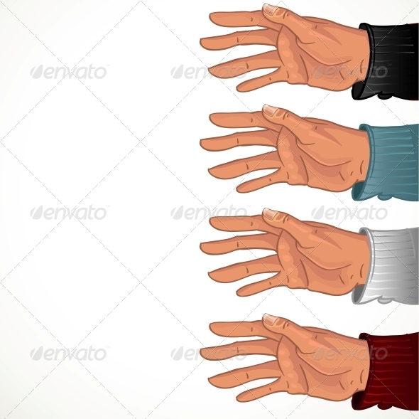 Male Hand in Some Color Shirt - Abstract Conceptual
