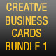 CREATIVE BUSINESS CARDS BUNDLE 1 - GraphicRiver Item for Sale