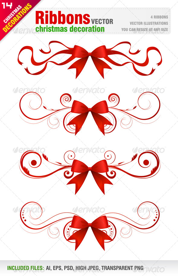 Ribbons - Flourishes / Swirls Decorative