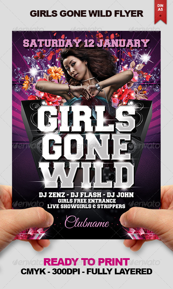 Girls Gone Wild Flyer - Clubs & Parties Events