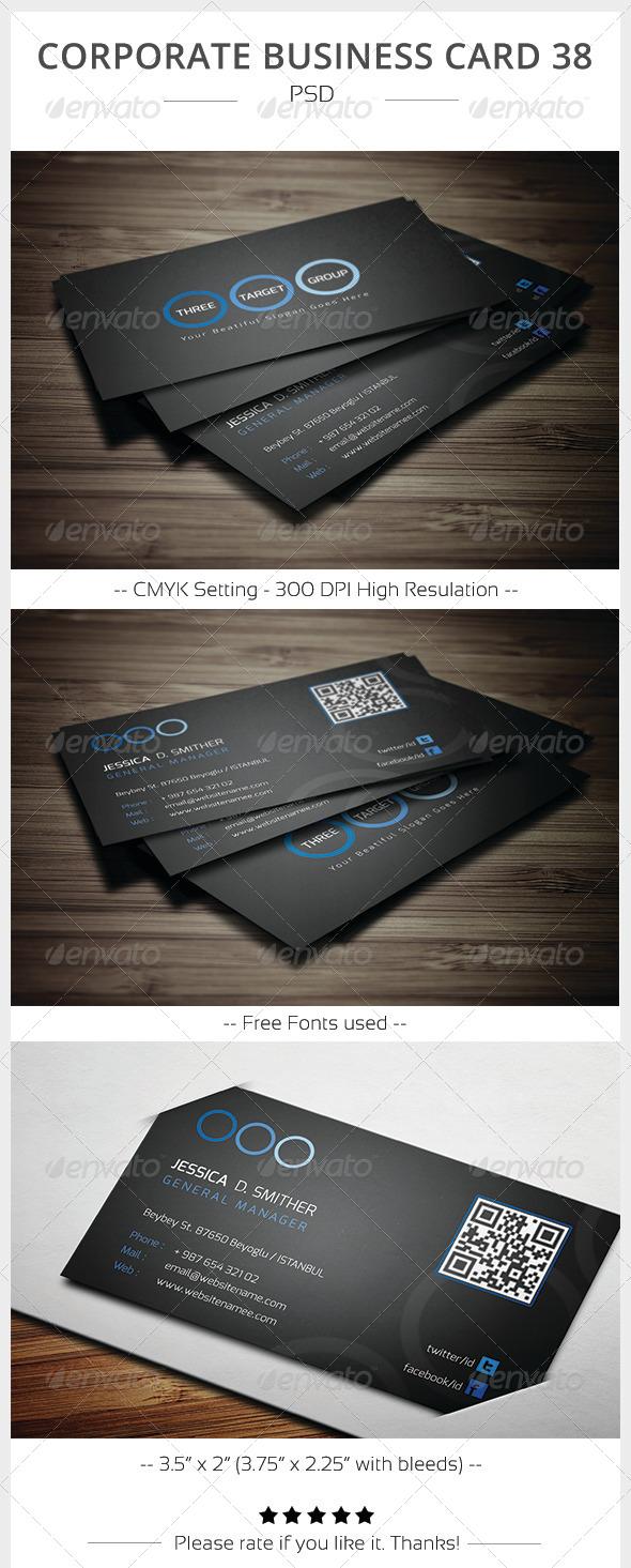 Corporate Business Card 38 - Corporate Business Cards