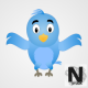 2D Blue Bird Animation V2 HD - VideoHive Item for Sale