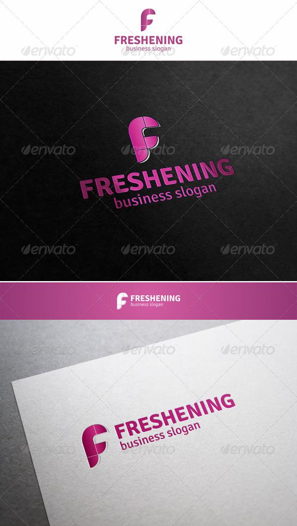 Freshening - F Logo Letter - Letters Logo Templates