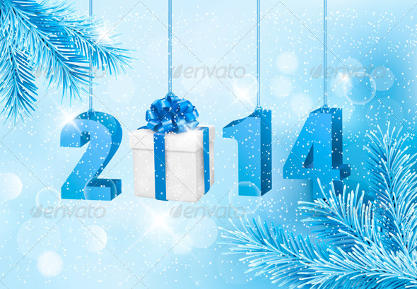 Happy New Year 2014 Design Template - New Year Seasons/Holidays