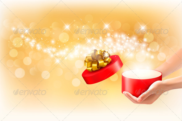 Christmas Background with Gift Boxes  - Christmas Seasons/Holidays