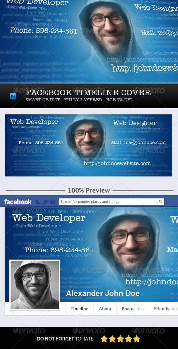 Facebook Timeline Cover Developer Designer - Facebook Timeline Covers Social Media