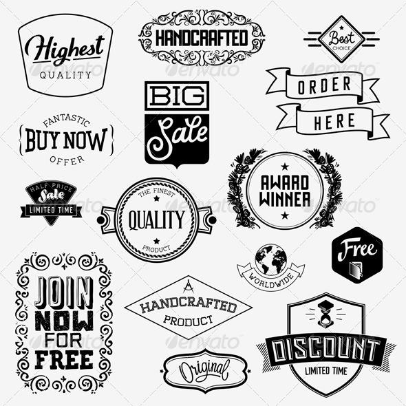 Vector Vintage Badges - Business Conceptual