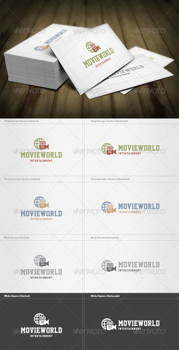 Movie World Logo - Symbols Logo Templates