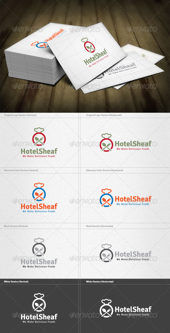 Hotel Sheaf Logo - Food Logo Templates