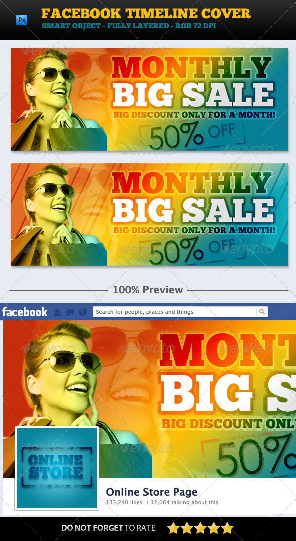 BIG Sale Promotion FB Cover - Facebook Timeline Covers Social Media