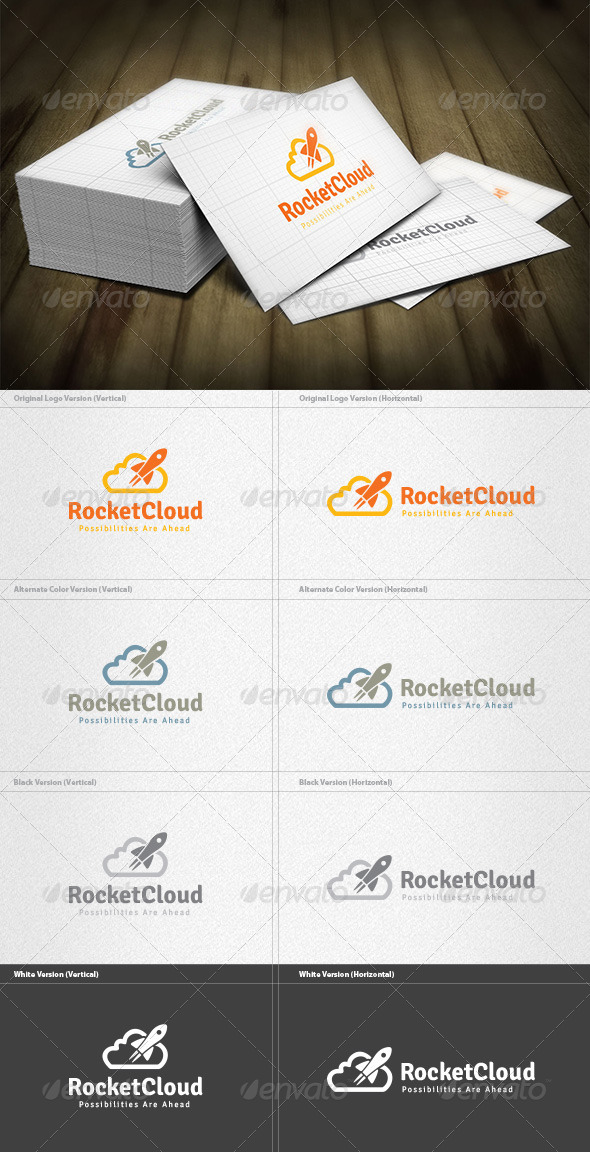 Rocket Cloud Logo - Objects Logo Templates