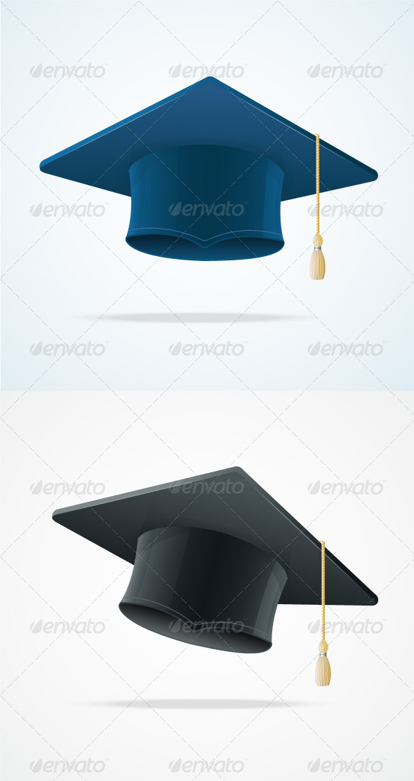 Education Cup on White. Graduation Cap. - Business Conceptual