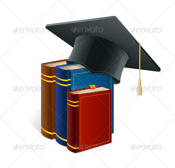 Graduation Cap with Books - Concepts Business