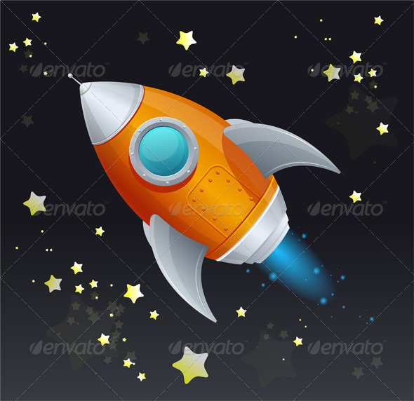 Comic Cartoon Rocket Space Ship - Miscellaneous Characters
