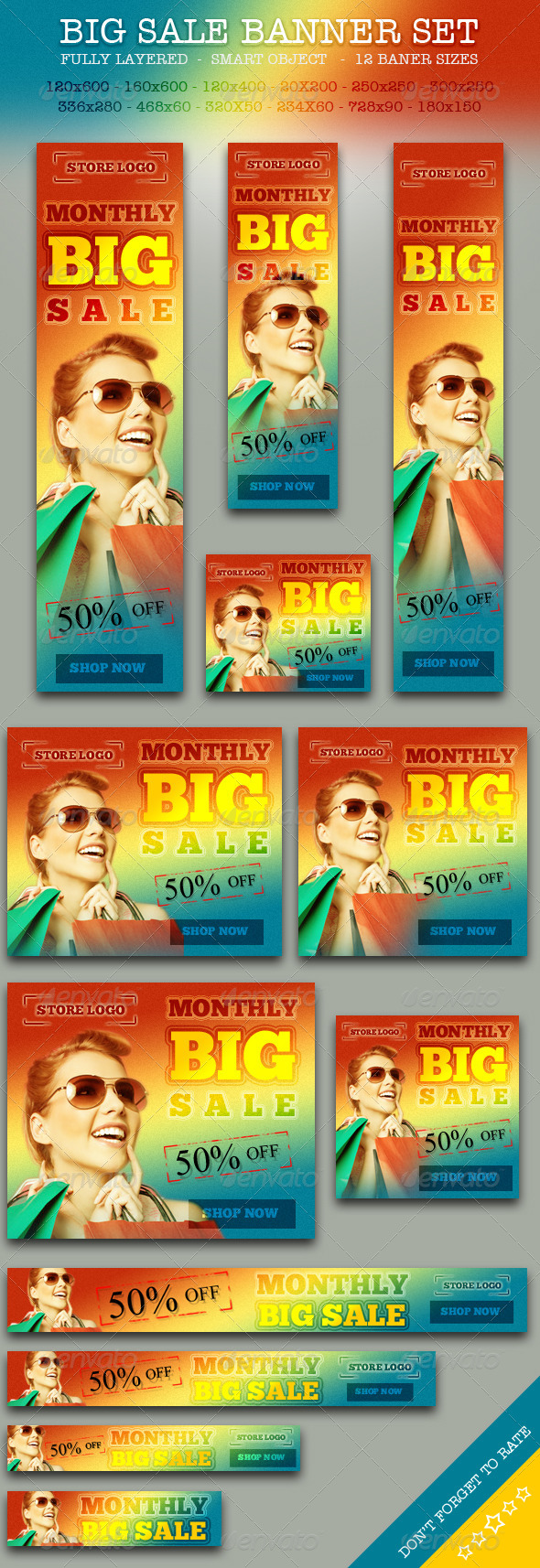 BIG Sale Promotion Online Store Banner ad Set - Banners & Ads Web Elements
