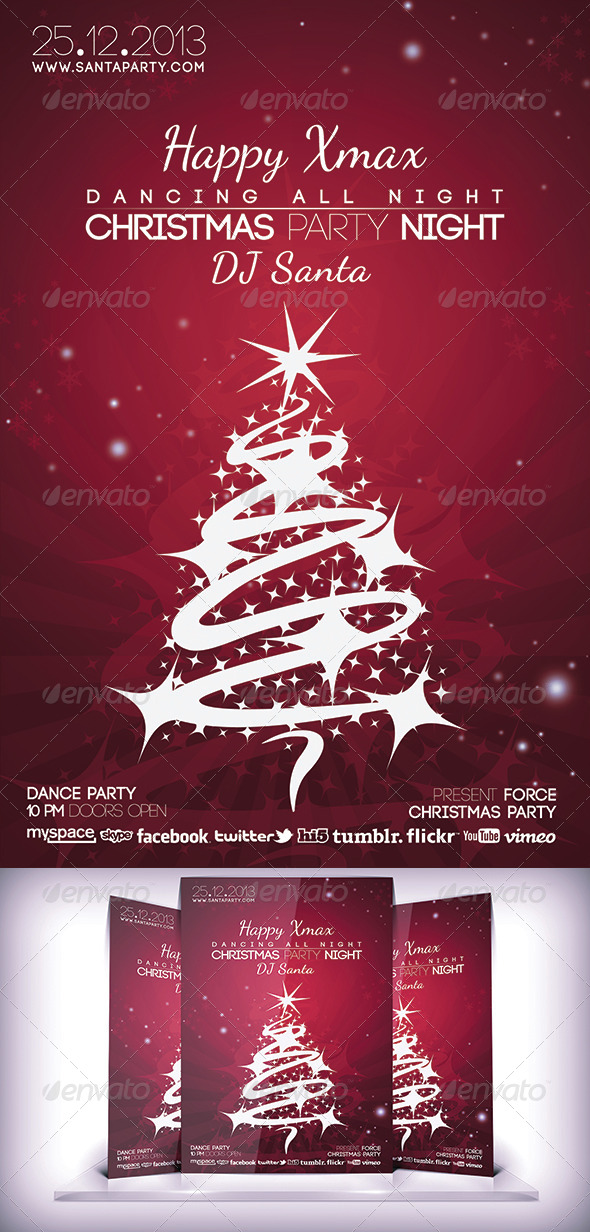 Christmas Night Flyer - Events Flyers