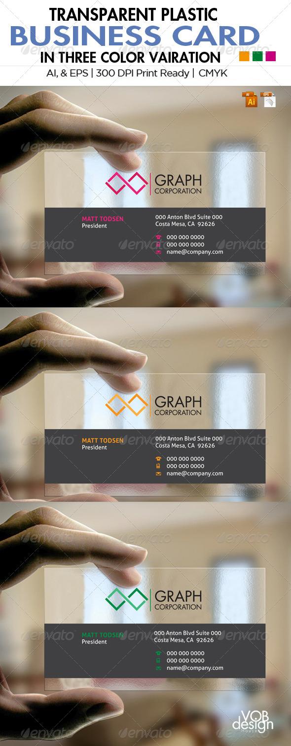 Transparent Business Card 1 - Business Cards Print Templates