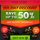 Holiday Discount Online Store Banner ad Set