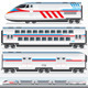 High-Speed Locomotive with Wagons - Vector - GraphicRiver Item for Sale