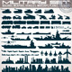Military Icons Set. Collection of Silhouettes - GraphicRiver Item for Sale