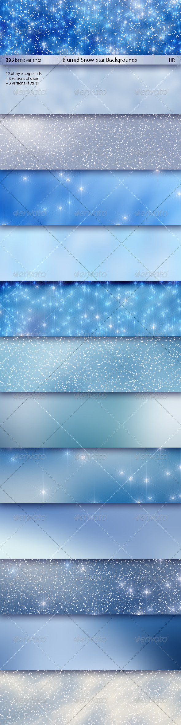 Blurred Snow Star Backgrounds - Abstract Backgrounds