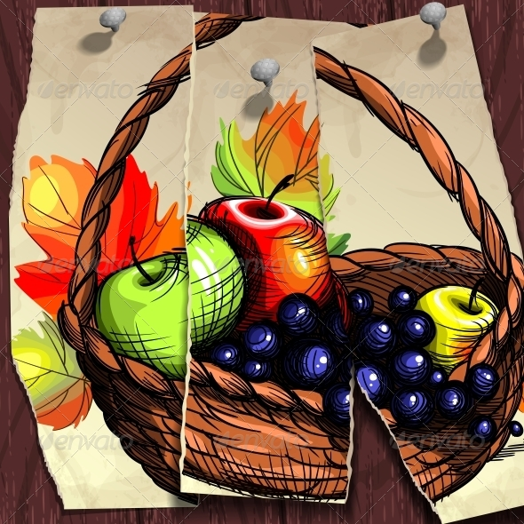 Autumn Banner Fruit Basket - Seasons Nature