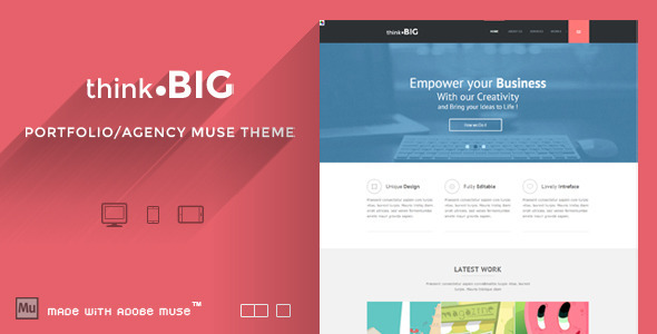 Think Big - Creative Muse Theme - Creative Muse Templates