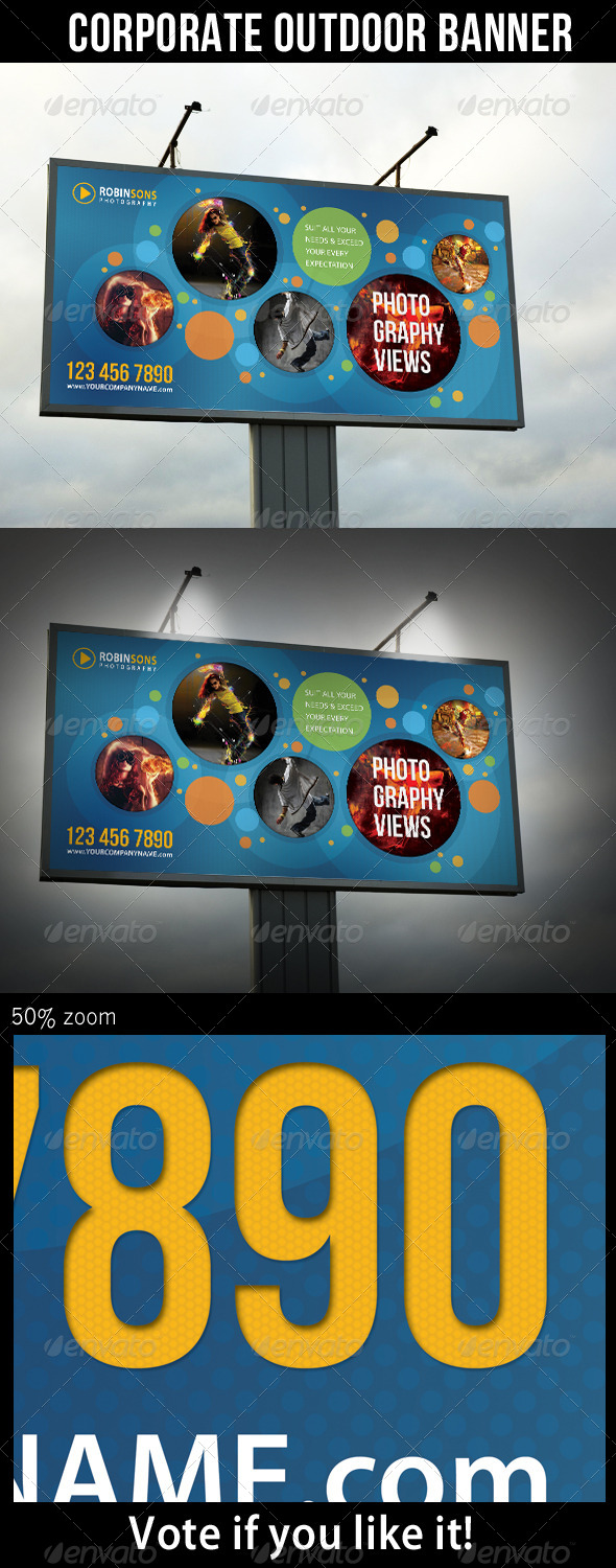 Corporate Outdoor Banner 18 - Signage Print Templates
