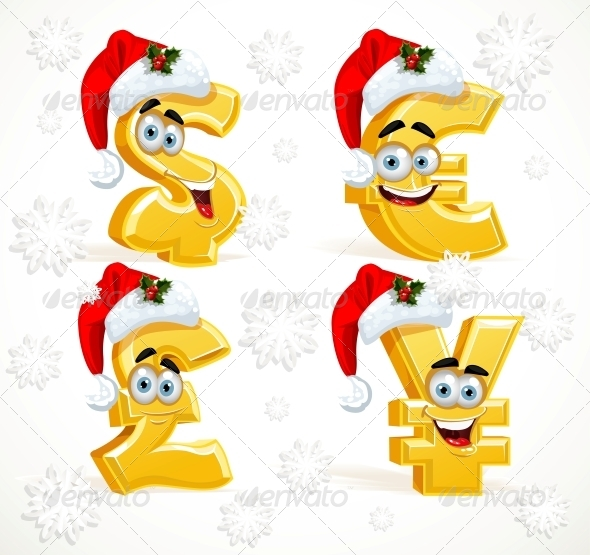 Christmas Monetary Signs Smiles  - Miscellaneous Characters
