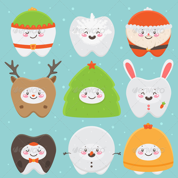 Christmas Teeth by Nenochka | GraphicRiver