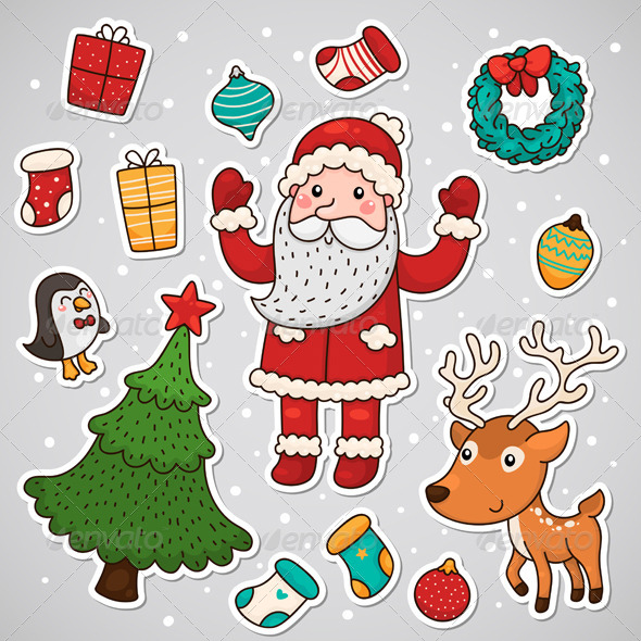 Christmas and New Year Stickers - Christmas Seasons/Holidays