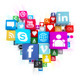 Social Media icons in Heart Shape - GraphicRiver Item for Sale