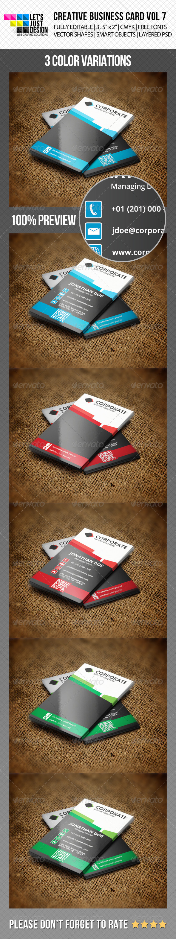 Creative Business Card Vol 7 - Creative Business Cards