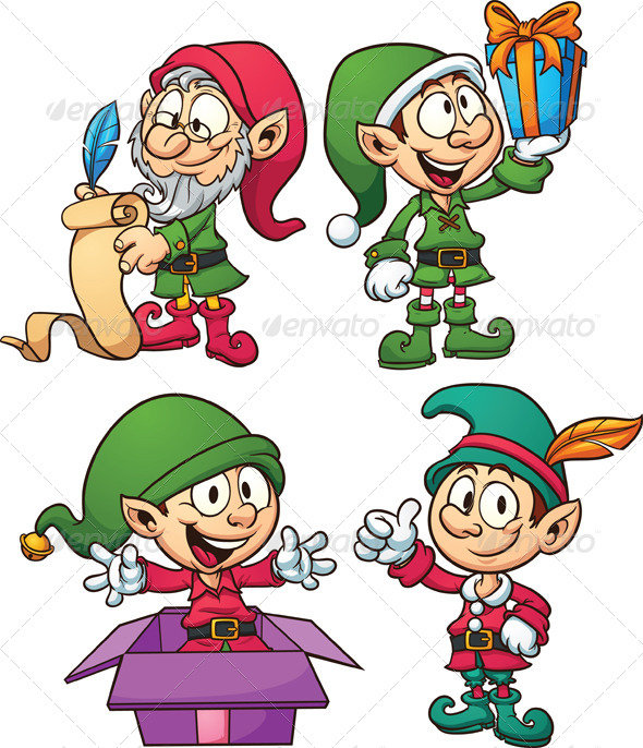 Christmas Elves by memoangeles | GraphicRiver