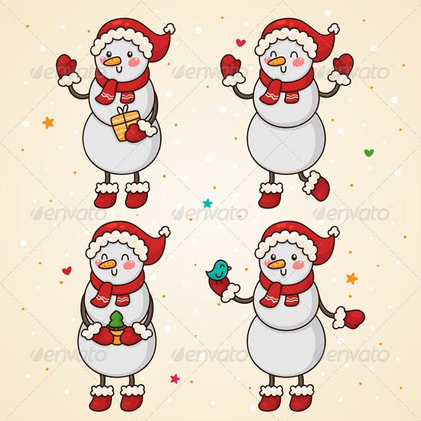 Snowman Set - Christmas Seasons/Holidays