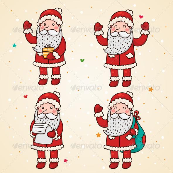 Santa Claus, Set - Christmas Seasons/Holidays