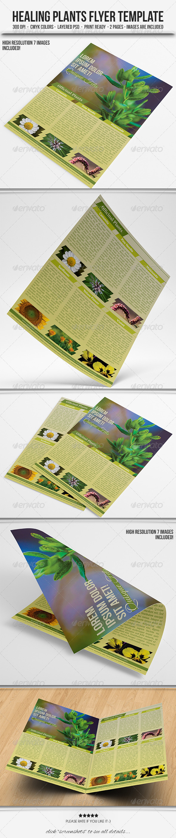 Healing Plants Flyer Template - Corporate Flyers