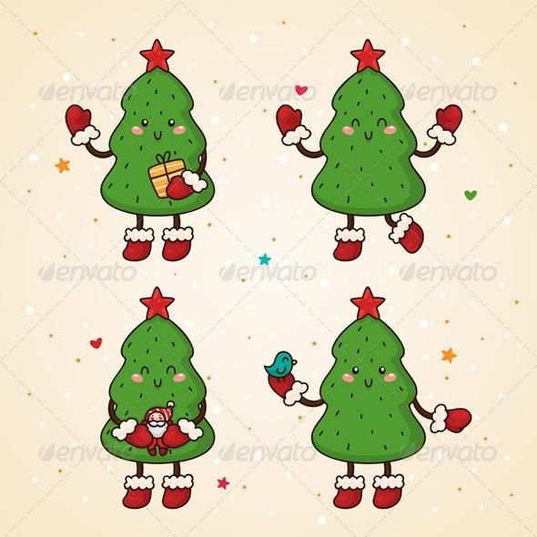 Christmas Tree, Set - Christmas Seasons/Holidays