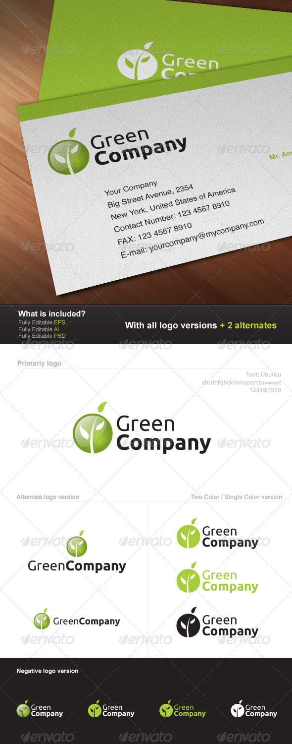 Green Company Logo - Nature Logo Templates