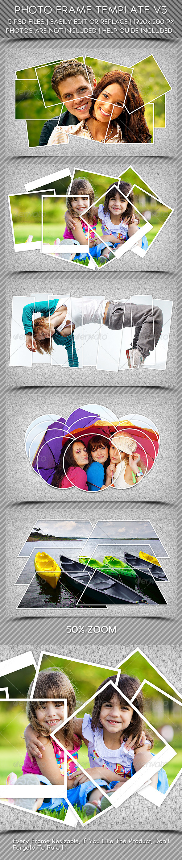 Photo Frame Template V3 - Photo Templates Graphics