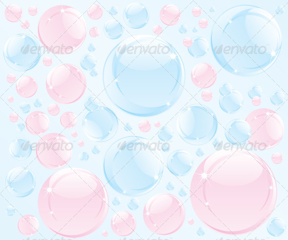 Abstract Bubble Soap Illustration - Abstract Conceptual