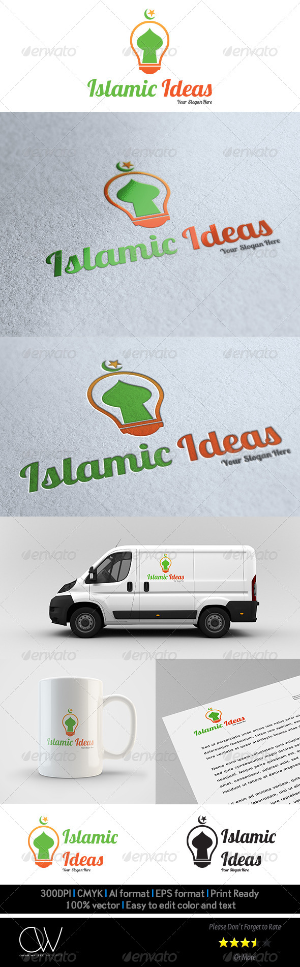 Islamic Ideas Logo Template - Vector Abstract