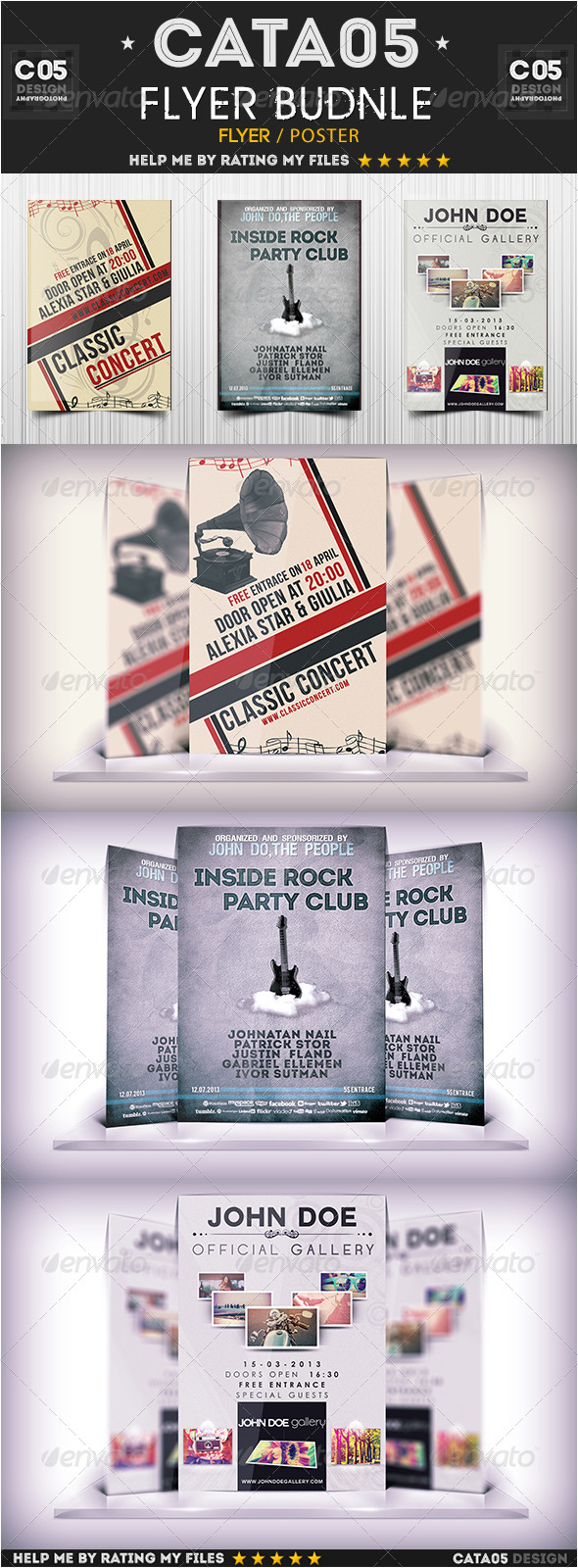 Flyer Bundle Pack 2 - Flyers Print Templates