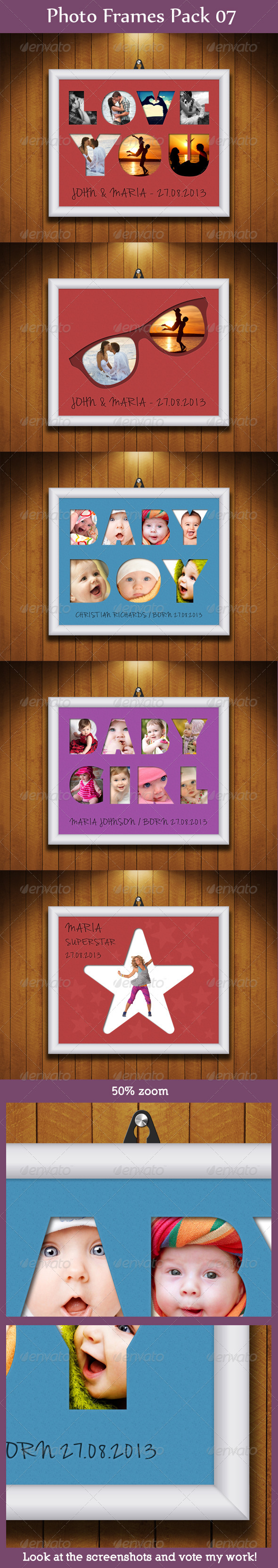Photo Frames Pack 07 - Artistic Photo Templates
