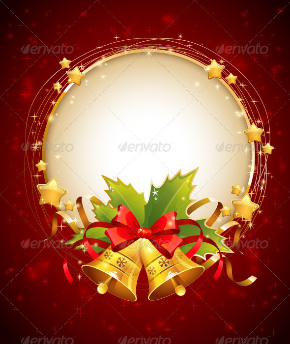 Christmas Decorative Congratulation Card with Bell - Christmas Seasons/Holidays