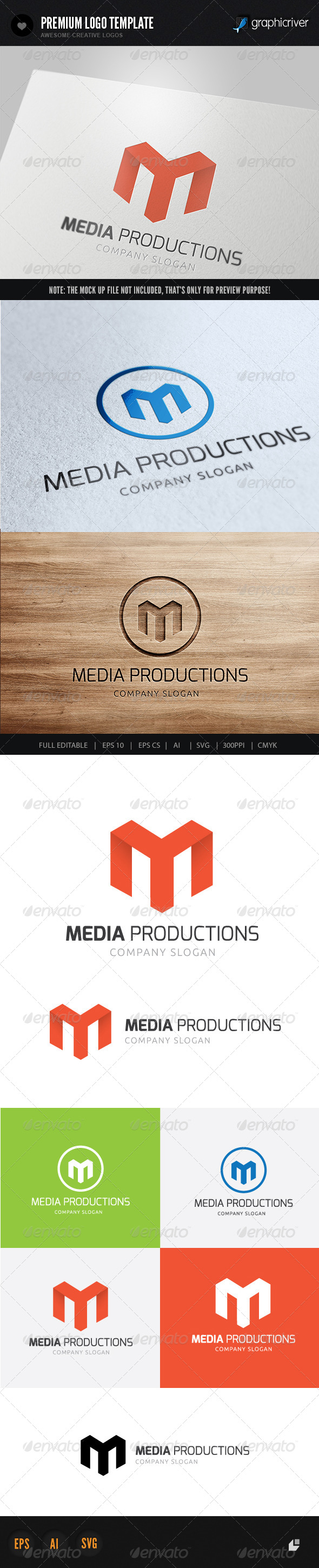 Media Productions Logo - Letters Logo Templates