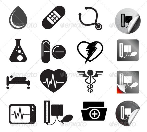 Medical Icon Set - Health/Medicine Conceptual